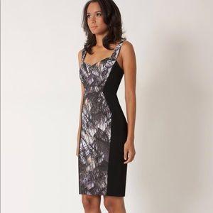 Black Halo Sadie Colorblock Sheath Dress size 8